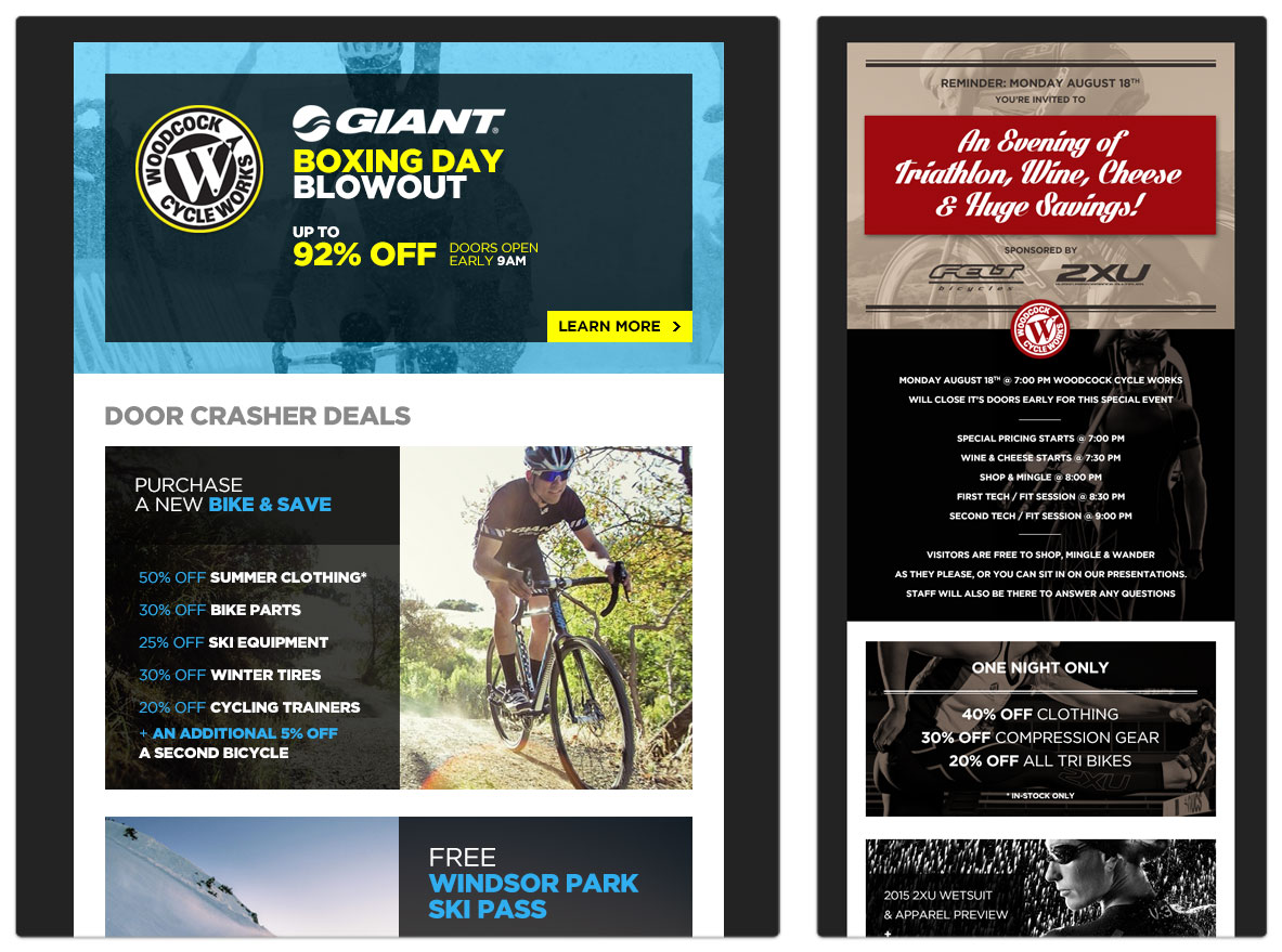 Woodcock Cycle Works - Newsletter Design